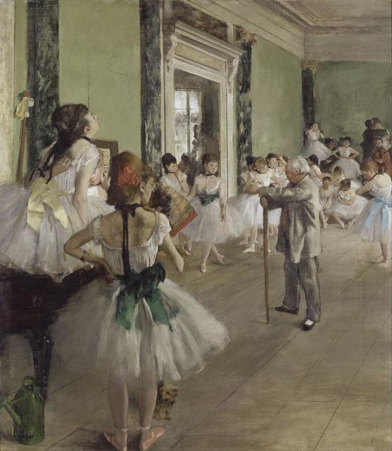 Edgar Degas, 'La classe de danse (The Dance Class),' 1873-1876, Musée d'Orsay