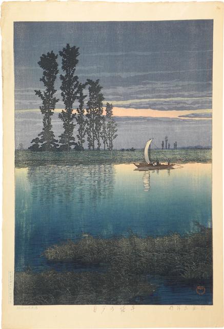 , 'Evening at Ushibori,' ca. 1930, Scholten Japanese Art