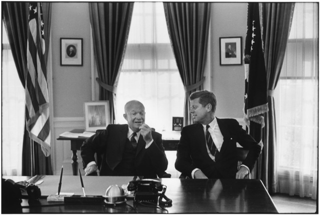 , 'President Dwight D. Eisenhower and President-elect John F. Kenendy,' 1960, CAMERA WORK