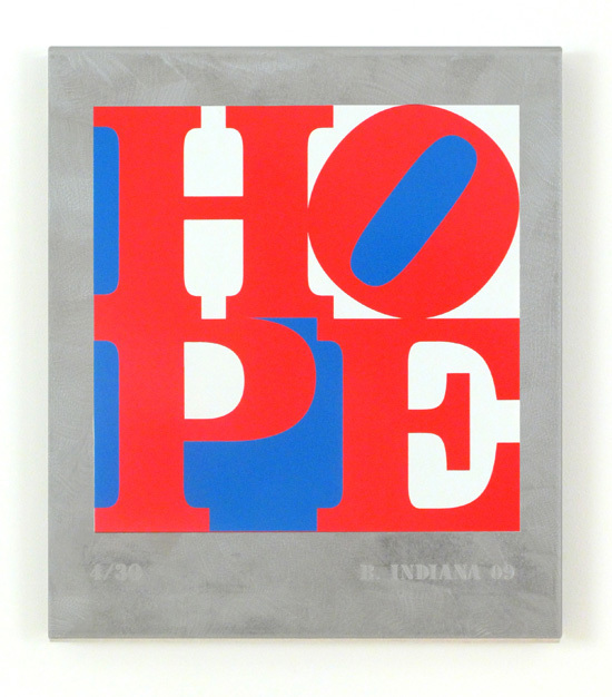 , 'HOPE: Red, White, Blue,' 2009, Woodward Gallery