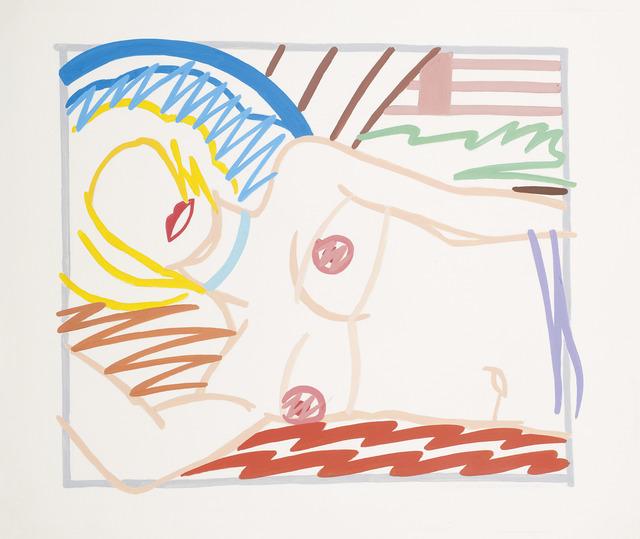 Tom Wesselmann, 'Study for blonde Monica in half slip (Thin Line)', 1986, Opera Gallery