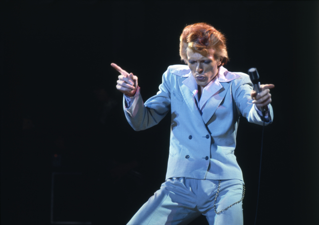 , 'David Bowie blue suit,' ca. 1974, Ransom Art