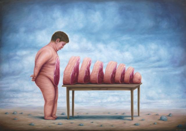, 'La ventre à table,' 2016, Fousion Gallery