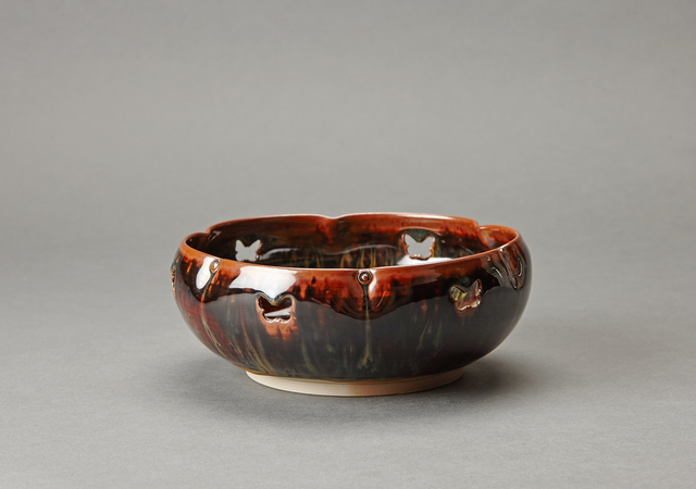 , 'Sweet tray (kashiki), flower form with butterfly openwork,' , Pucker Gallery