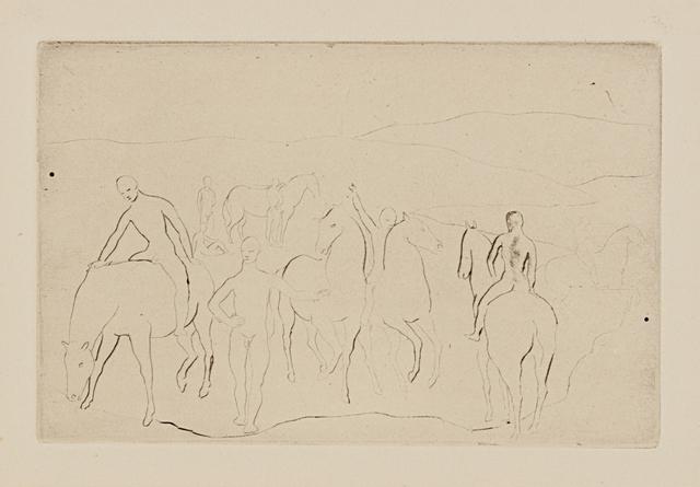 Pablo Picasso, 'L'Abreuvoir (Chevaux au bain), from La suite des Saltimbanques', 1905, Phillips