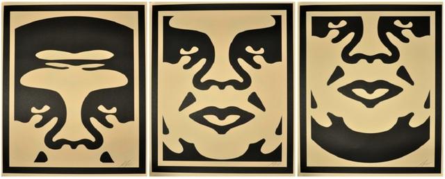 Shepard Fairey, 'Obey Triptych', 2017, Samhart Gallery