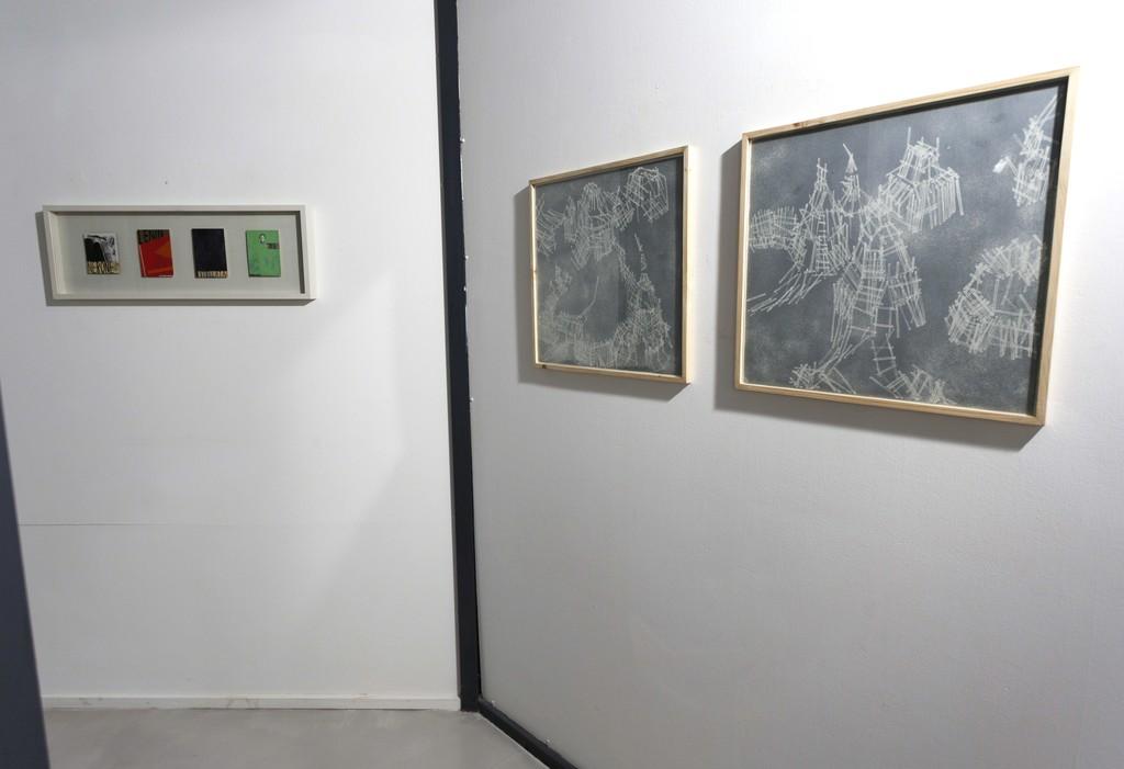 Francesco Bocchini, Cartoline, (Nerone, Stellata, Lenin, Tirol), 1998, mixed media su postcards, 30x85 Federico Guerri, Glaciale Artico, 2007 matrici in rame e stampe numerata in 10 copie