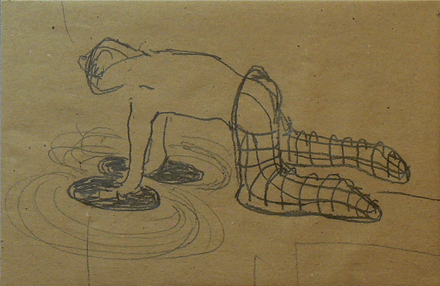 , 'Sin título (manos en el piso),' 2011, Nora Fisch