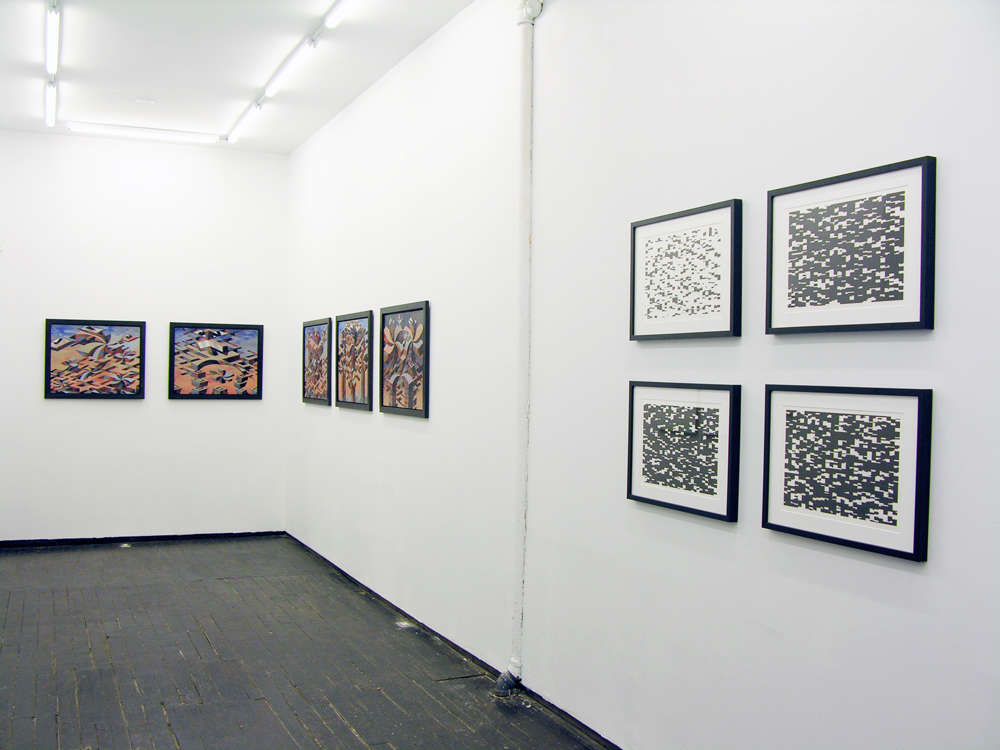 Installation view of 'Original Show, Season One' Curated by Stephen Hepworth. Featuring Matthew Abbott(pictured), Carl Fudge(pictured), and Joey Køtting. June 21 - July 24, 2015