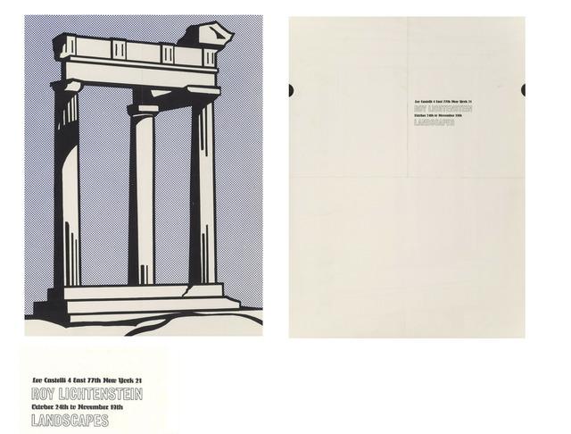 """Roy Lichtenstein, '""""Landscapes"""", 1964, Invitation/Mailer/Poster, Leo Castelli Gallery NY.', 1964, VINCE fine arts/ephemera"""