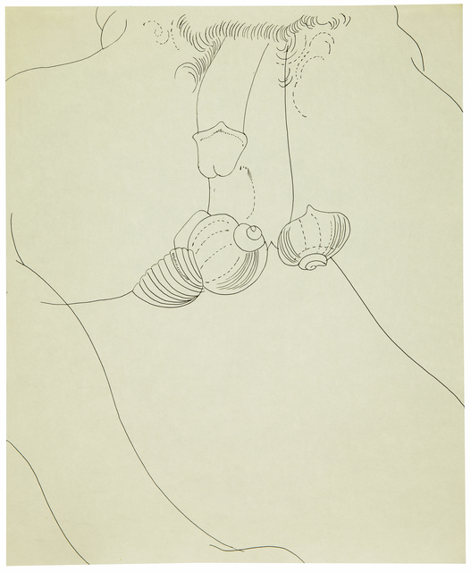 Andy Warhol, 'Male Nude with Shells', ca. 1957, Galerie des Modernes