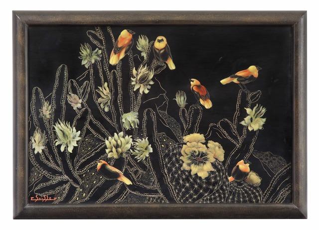 , 'Red Bishops in Blooming Cacti,' , Galerie Dumonteil