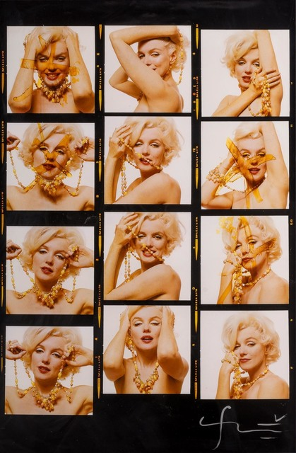 Bert Stern, 'Large format Marilyn Monroe with jewels [Contact Sheet]', 1962, Doyle