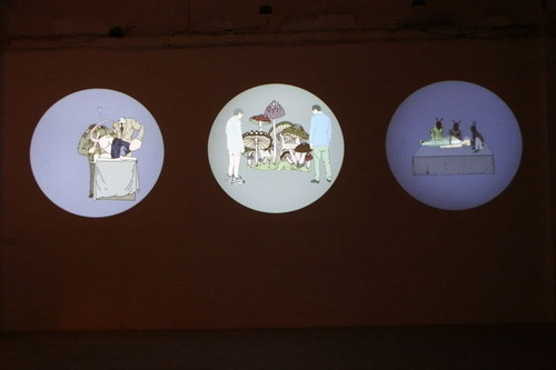 Tang Maohong, 'Orchid Finger', 2004, Video/Film/Animation, Video Multichannel 3 Screen Animation Film Installation, Sound by Jin Feng, ShanghART
