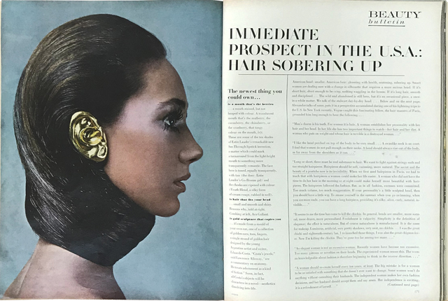 Eduardo Costa, 'Fashion Fiction I, Vogue Magazine, February 1st,1968. Open on spread of Eduardo Costa's Fashion Fiction I, (Gold Ear), photogrphed by Richard Avedon, model Marisa Berenson and text by Lawrence Alloway, pages 170-171.', 1968, Cosmocosa