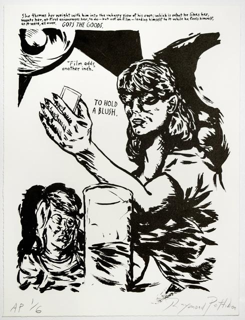 Raymond Pettibon, 'Untitled (Hold a Blush...)', 2018, Brooke Alexander, Inc.