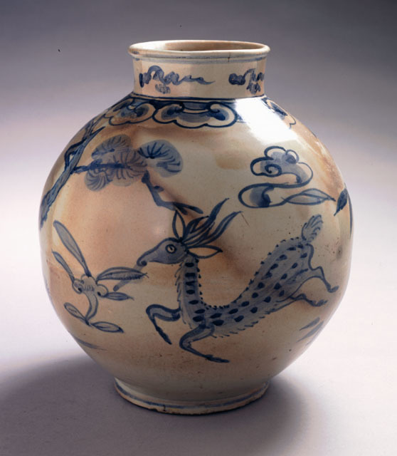 , 'Jar with Longevity Motifs: Deer, Pine and Lingzhi,' 1392, Newark Museum