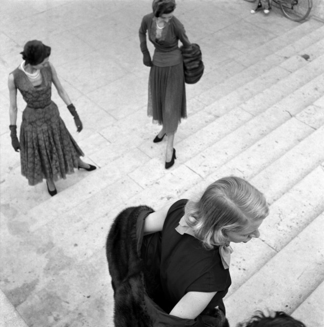 , 'Models, Paris Fashion Shoot, Paris, France 	,' 1950, Magnum Photos