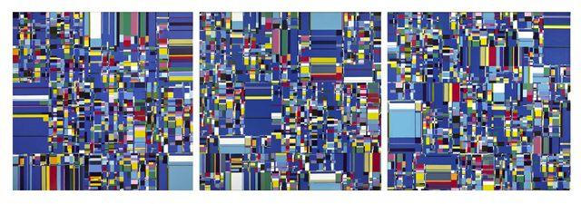 , 'RANDOM LINKS over blue,' 2011, Museo de Arte Contemporáneo de Buenos Aires