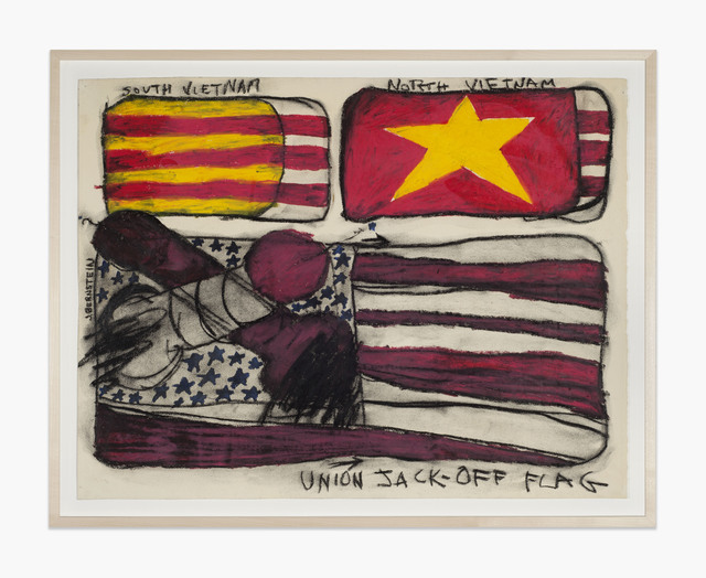 Judith Bernstein, 'Union Jack Off Basel', 1967, Drawing, Collage or other Work on Paper, Charcoal and oil stick, Karma International