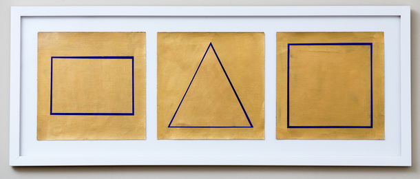 Joyce Siegel, 'Gold Shapes (Triptych),' 2015, Friends Seminary: Benefit Auction 2017