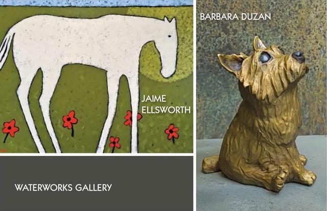 , 'Life Untamed: Jaime Ellsworth & Barbara Duzan,' 2019, WaterWorks Gallery