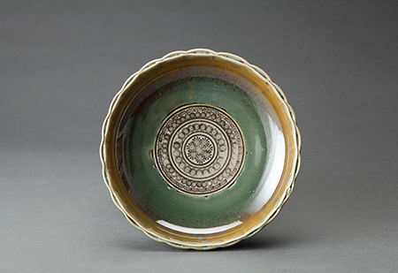 , 'Sweets tray (kashiki), green glaze and stamped decoration,' , Pucker Gallery