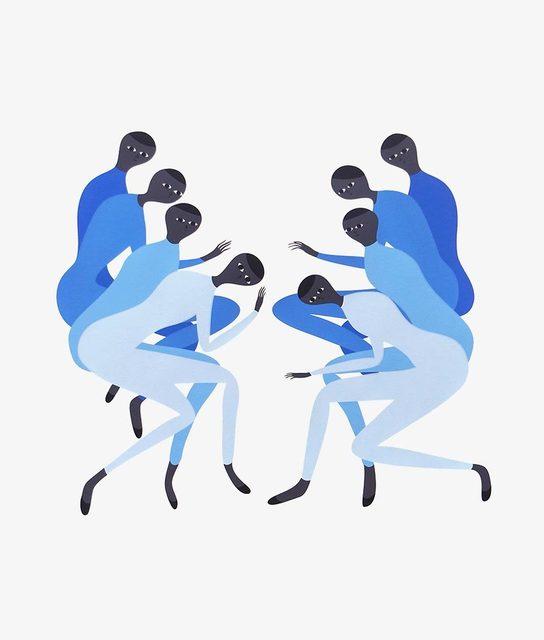 Santiago Salvador Ascui, 'Blue Fall', 2017, Uprise Art