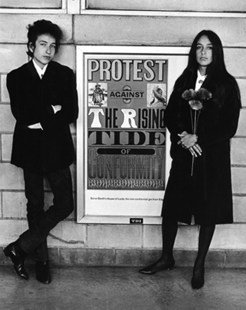 , 'Bob Dylan and Joan Baez with Protest Sign, Newark Airport,' 1964, Staley-Wise Gallery