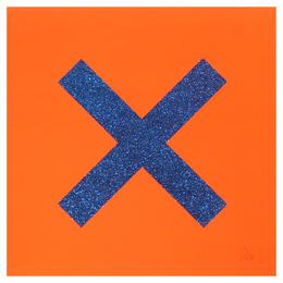 Marks the Spot (Blue on Orange)