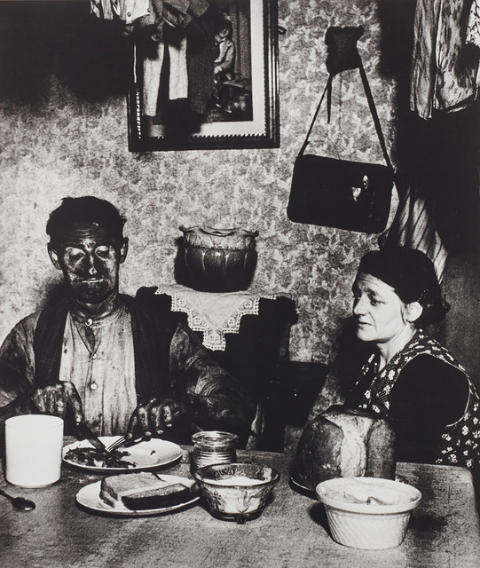Bill Brandt, 'Northumbrian miner at his evening meal', 1937, Phillips