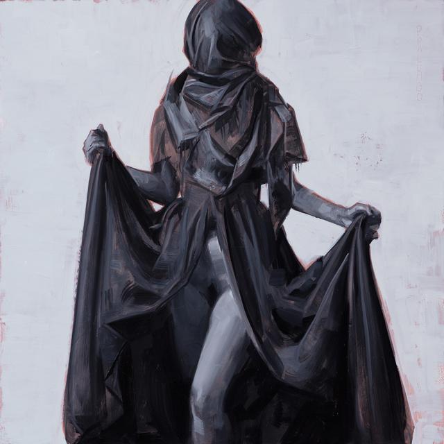 , 'Figure in Black Drapery #1,' 2017, IX Gallery