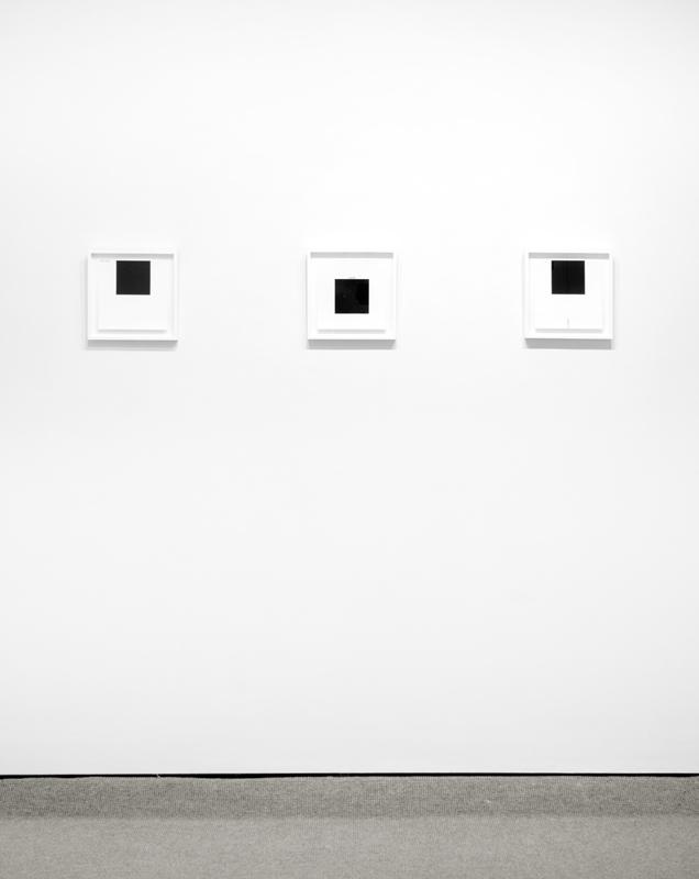 Exhibition view of 3 Downsbrough prints