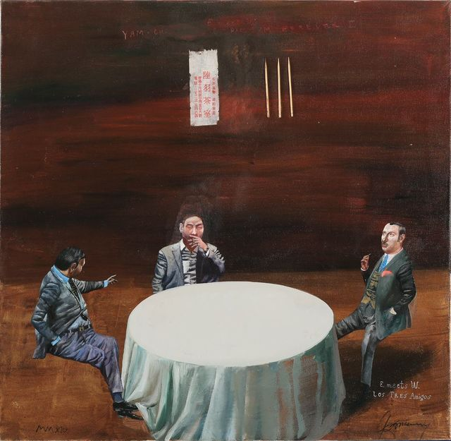 , 'E. meets W. Los Tres Amigos,' 2014, 10 Chancery Lane Gallery
