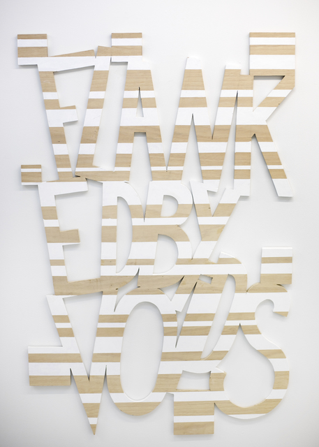 , 'Words 56 (Dazzle Dialectics 3),' 2016, Galerie Bart