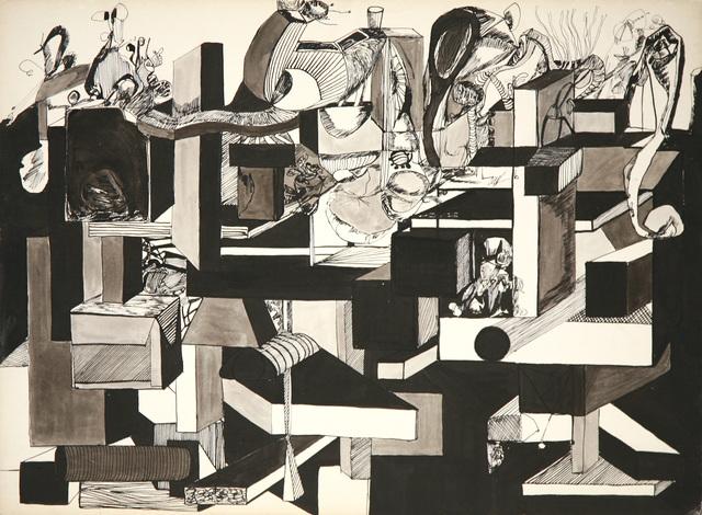 , 'Black Study 6,' 1966, David Richard Gallery