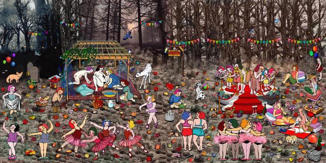 , 'Fiesta en el bosque,' 2017, Galería Gema Llamazares
