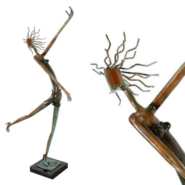 Rafael Cabrera, 'Pamelina ', 2021, Sculpture, Bronze + oxide + granite base, Biaggi & Faure Fine Art