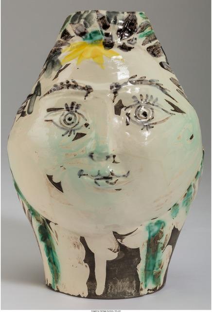 Pablo Picasso, 'Tête de femme couronnée de fleurs', 1954, Heritage Auctions