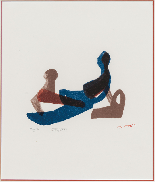 Henry Moore, 'Mother and Child, from the Italian edition of The Shelter Sketchbook', 1967, Print, Color lithograph on paper, Skinner