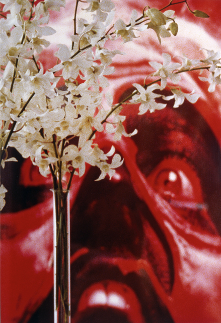 , 'Red Face White Flowers,' 2004, Blondeau & Cie
