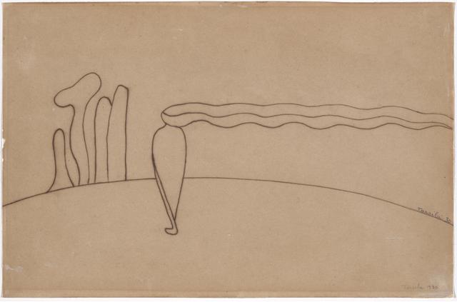 , 'Study for Composition (Lonely figure) III [Estudo de Composição (Figura só) III],' 1930, The Museum of Modern Art