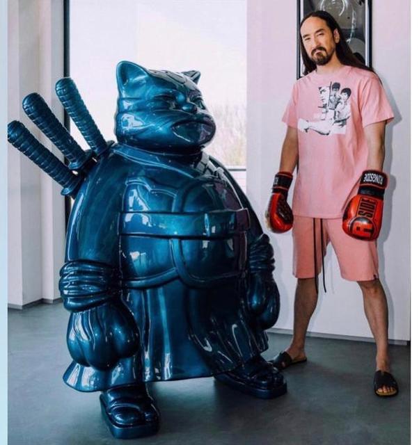 Hiro Ando, 'SamuraiCat Blue', 2019, Ode to Art