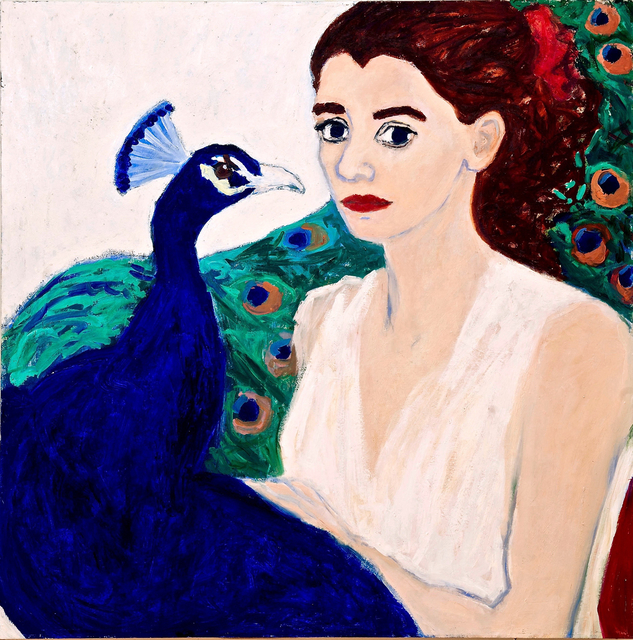 , 'Lady with Peacock,' , Paraphé