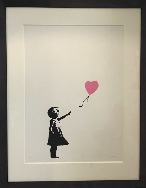 Banksy, 'Girl with Balloon (Pink)', 2004, Maddox Gallery