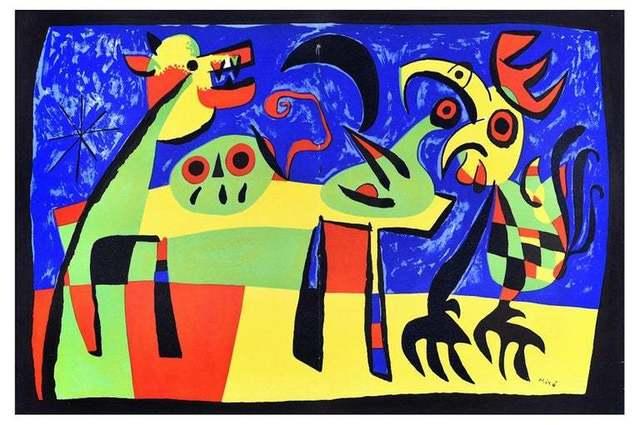 Joan Miró, 'Le Chien Aboyant à la Lune', 1952, Wallector