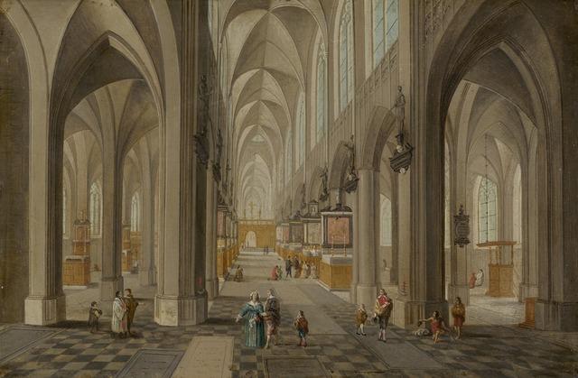 Peeter Neeffs, the elder, 'Antwerp Cathedral', ca. 1650/1655, National Gallery of Art, Washington, D.C.