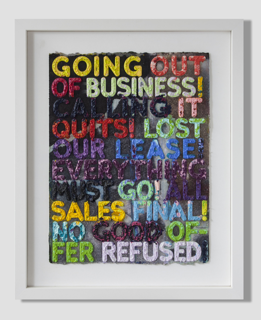 Mel Bochner, 'Going Out of Business', 2012, Quint Gallery