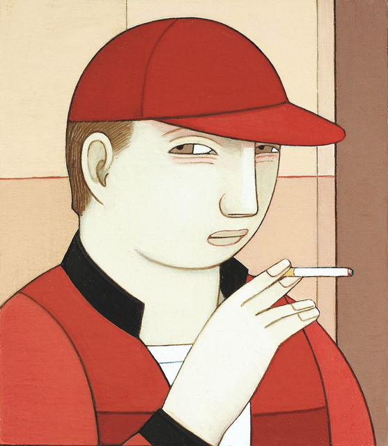 , 'Young Man Smoking,' 2016, Adelson Galleries