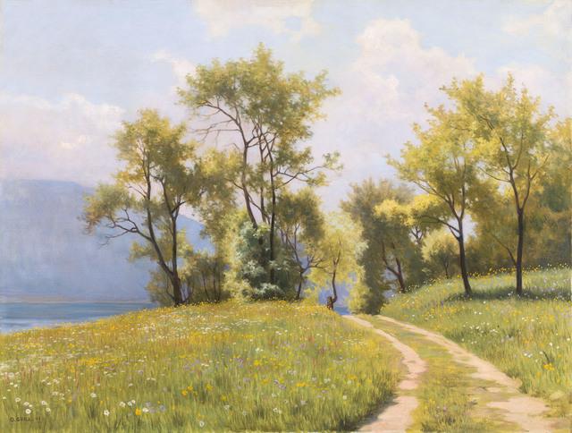 , 'spring at lake Attersee,' 1943, Galerie Kovacek & Zetter